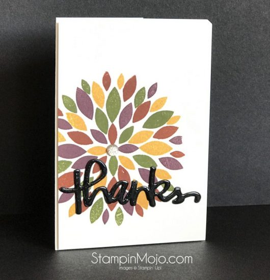 Concord & 9th Dahlia stamp set and die Thank you card ideas Michelle Gleeson