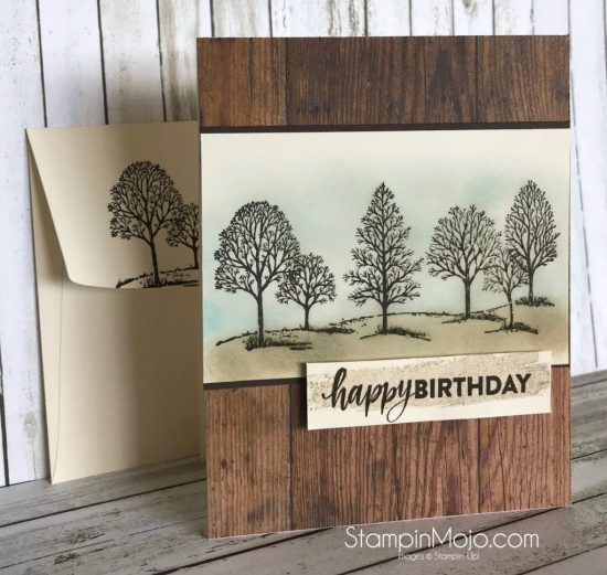 Stampin Up Male Birthday Cards Masculine Happy Birthday Card Using