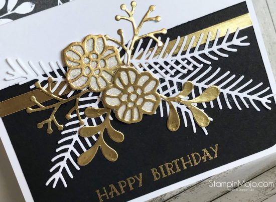 Stampin Up Pretty Pines Thinlits Rose Garden Thinlits Birthday Card Ideas Michelle Gleeson Stampinup SU