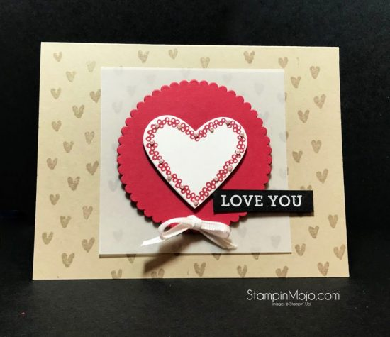 Stampin Up Heart Happiness January 2018 Pals Blog Hop Love Card idea Michelle Gleeson StampinUp SU