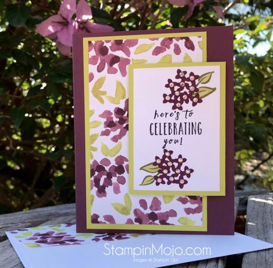 Stampin Up Perennial Birthday Stamp Naturally Electic DSP Birthday card idea Michelle Gleeson Stampinup SU