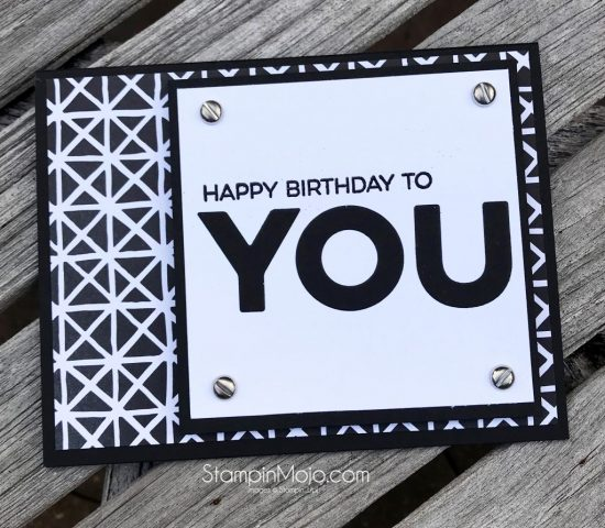 Petal Passion Masculine Birthday Card Stampin Mojo