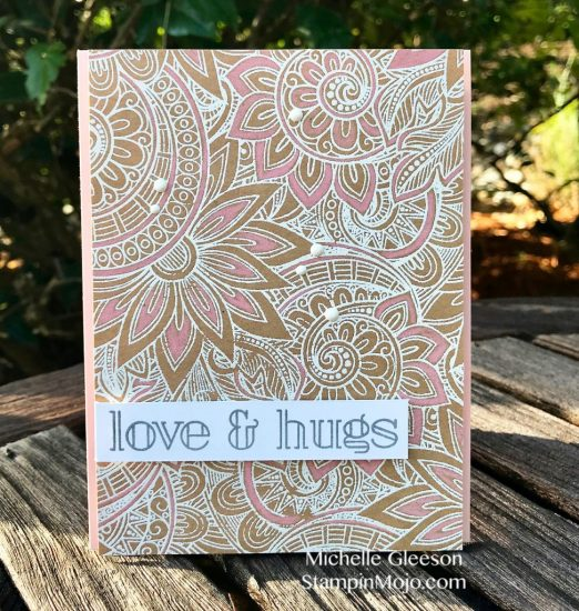 SSS Ornate Background stamp, SSS Big Greetings 1, Michelle Gleeson
