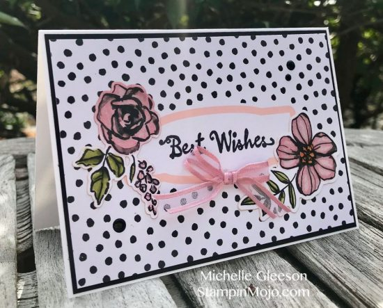 Stampin Up Petal Palette Memoeris and More Stampin' Blends Birthday Card Michelle Gleeson Stampinup SU