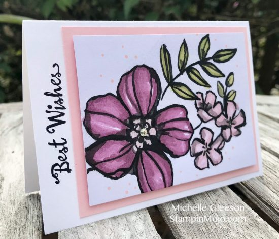 Stampin Up Petal Palette Memoeris and More Stampin' Blends Birthday Card idea Michelle Gleeson Stampinup SU