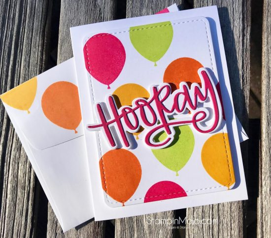 Stampin Up Balloon Celebration Neat and Tangled Hooray Die Birthday card Michelle Gleeson Stampinup SU.jpg