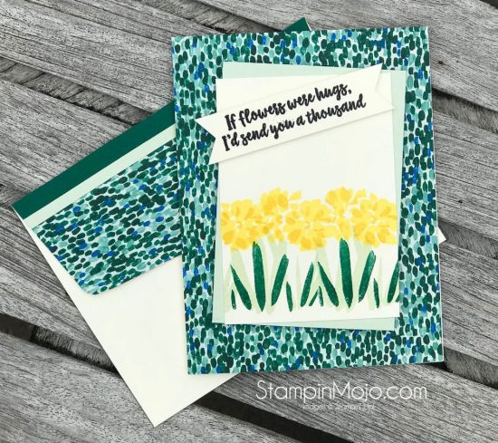 SU Garden Impressions DSP FMS#336 Abstract Impressions Thinking of You card idea Michelle Gleeson Stampinup Stampin Up