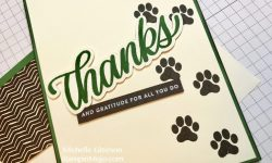 StampinMojo SSS Big Thanks Words, SU D is for Dog Thank you card ideas
