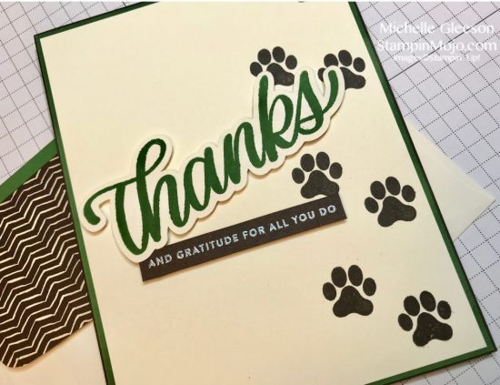 StampinMojo Thank you card idea Simon Says Stamp Big Thanks Words