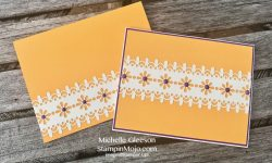 Stampin Up Delightfully Detailed Laser Cut DSP Simple Note Cards Michelle Gleeson Stampinup SU