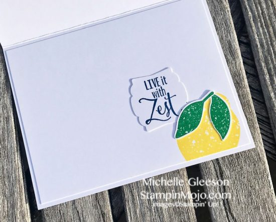 Stampin Up Lemon Zest 2018-2020 In Colors TGIFc163 Inspire Create Challenge #19 Michelle Gleeson Stampinup