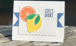 Stampin Up Lemon Zest 2018-2020 In Colors TGIFc163 Inspire Create Challenge #19 Michelle Gleeson Stampinup SU