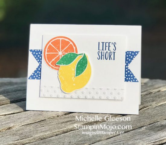 Stampin Up Lemon Zest 2018-2020 In Colors TGIFc163 Inspire Create Challenge #19 Michelle Gleeson Stampinup SU