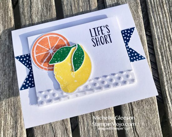 Stampin Up Lemon Zest 2018-2020 In-Colors TGIFc163 Inspire Create Challenge #19 Michelle Gleeson Stampinup SU