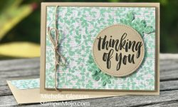 Stampin Up Rooted in Nature Suite Thinking of you card Michelle Gleeson Stampinup SU