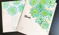 Stampin Up So Succulent Thank you card Michelle Gleeson Stampinup SU