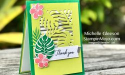 Stampin Up Tropical Chic Bundle Thank You Card Ideas Michelle Gleeson Stampinup SU