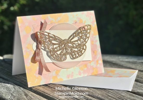 Stampin Up Abstract Impressions DSP Springtime Impressions Thinlits Anytime card ideas Michelle Gleeson Stampinup SU