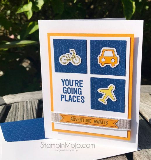 Stampin Up EnRoute Memories and More Congratulations card idea GDP146 Michelle Gleeson Stampinup SU