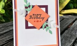 Stampin Up GDP145 Color Challenge Birthday Card Idea Stiched Framelits Detailed with Love Michelle Gleeson Stampinup SU