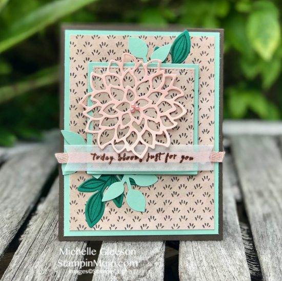Stampin Up GDP#148 May Flowers Leaf Punch Falling Flowers Birthday Card Idea Michelle Gleeson Stampinup SU