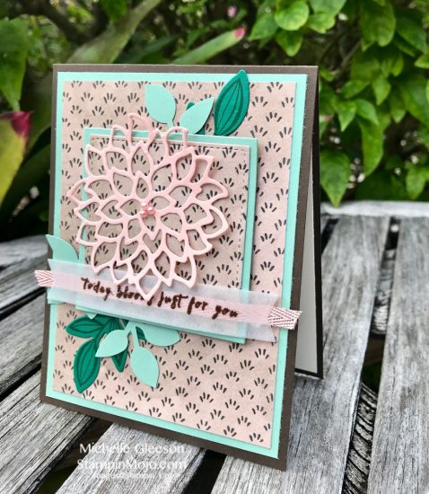 Stampin Up GDP#148 May Flowers Leaf Punch Falling Flowers Birthday Card Michelle Gleeson Stampinup SU