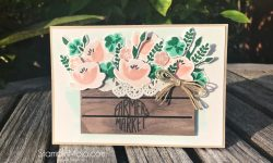 Stampin Up Jar of Love Bundle Wood Crate Framelits Inspire Crete Challenge #022 GDP#147 Anytime card ideas Michelle Gleeson Stampinup SU