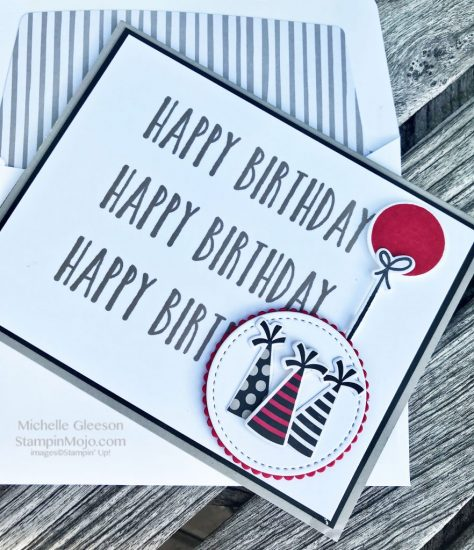 Stampin Up GDP#150 Perennial Birthday Broadway Birthday Masculine Bithday card idea Michelle Gleeson Stampinup SU