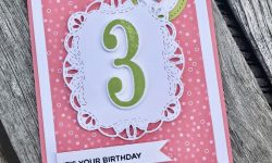 Stampin Up Stitched All Around Broadway Birthday Birthday Card Idea Michelle Gleeson Stampinup SU