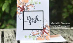 Altenew Floral Art Thank you card idea Michelle Gleeson