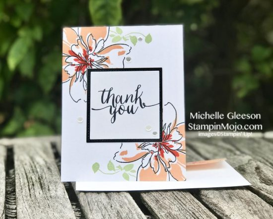 Altenew Floral Art Thank you card idea Michelle Gleeson