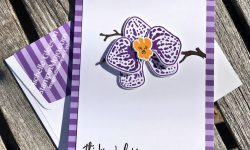 Stampin Up Climbing Orchid Inspire Create Challenge #26 Thinking of You cards Michelle Gleeson Stampinup SU