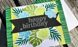 Stampin Up Tropical Chic Bundle Tropical Escape DSP Birthday Card Michelle Gleeson Stampinup SU
