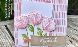Stampin Up Tropical Chic DSP Bunch of Blossoms Thank You card ideas Michelle Gleeson Stampinup SU