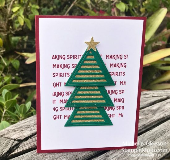 FMS 366 C9 Geometric Shapes Holiday Card Idea Michelle Gleeson