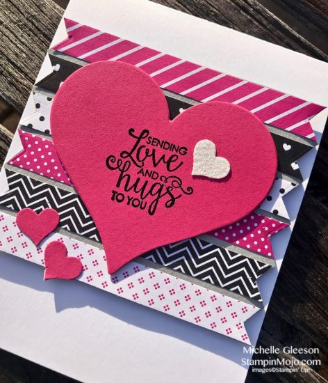 FMS #366 Stampin Up Ribbon of Courage Sweet and Sassy Heat Dies Love Card Ideas Michelle Gleeson Stampinup SU