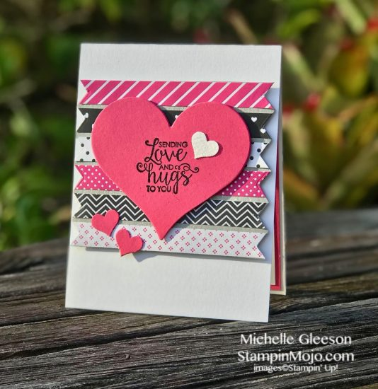 FMS #366 Stampin Up Ribbon of Courage Sweet and Sassy Heat Dies Love Cards Idea Michelle Gleeson Stampinup SU