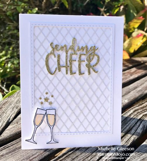 FMS 367 Michelle Gleeson Celebration card ideas SU Retired Making Spirits Bright WP9 Sending Cheer