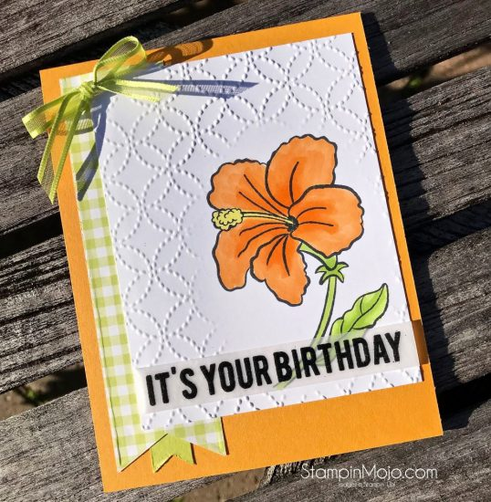 Stampin Up Humming Along Gingham Gala Birthday Card Michelle Gleeson Stampinup SU