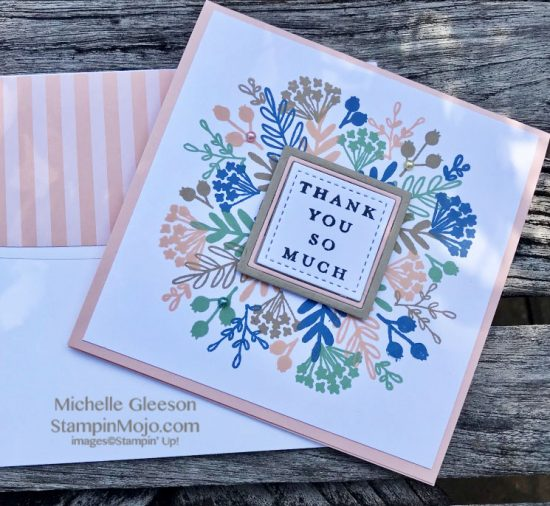 C9 Everyday Bouquet Turnabout Thank you card idea Michelle Gleeson #Concordand9th