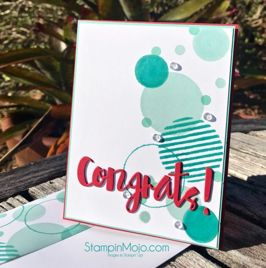 C9 Geometrics Stamp, FMS374, SSS Painted Congrats Die, Congratulations card, Michelle Gleeson