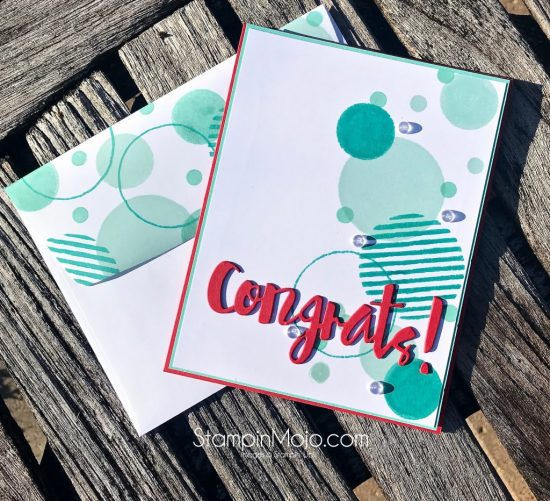 C9 Geometrics Stamp, FMS374, SSS Painted Congrats Die, Congratulations card idea, Michelle Gleeson