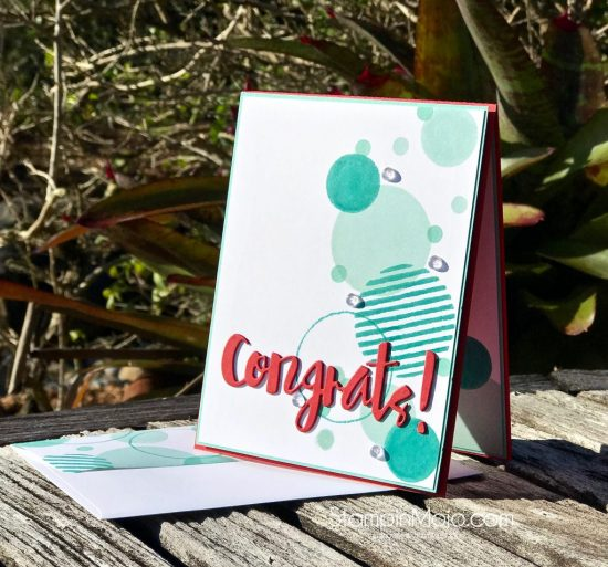 C9 Geometrics Stamp, FMS374, SSS Painted Congrats Die, Congratulations card ideas, Michelle Gleeson
