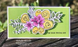 SSS Sketched Flowers Birthday Card Idea Michelle Gleeson 30 day Marker
