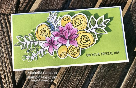 SSS Sketched Flowers Birthday Card Michelle Gleeson 30 day Marker