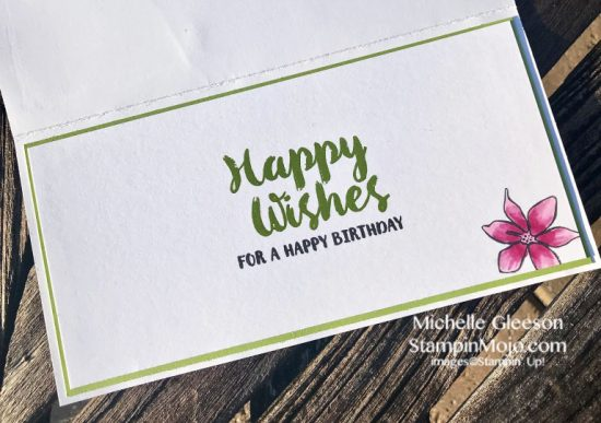 SSS Sketched Flowers WPlus9 Happy Wishes Birthday Card Idea Michelle Gleeson 30 day Marker