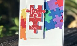 Stampin Up Love You to Pieces Bundle FMS373 LGBT Valentine Card Idea Michelle Gleeson Stampinup SU