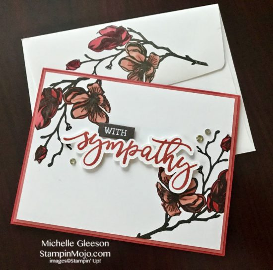 Altenew Dotted Blooms Honey Bee With Sympathy Sympathy Card ideas Michelle Gleeson