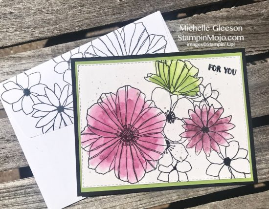 Concord & 9th Fine Floral Stamps & Dies Birthday Card idea Michelle Gleeson
