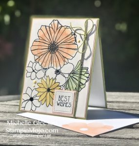 Concord & 9th Fine Line Florals Stampin Up Rectangle Stitched Dies Birthday card ideas Watercoloring Michelle Gleeson Stampinup SU C9